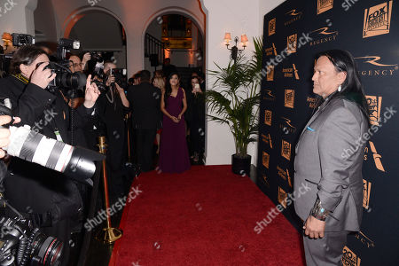 Arthur Redcloud seen at Twentieth Century Fox Academy Awards Party at Hollywood Athletic Club, in Los Angeles, CA