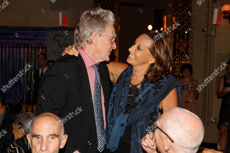 Executive director of the Tibet House, Robert Thurman and fashion designer Donna Karan seen at the Ubuntu Education Fund 15 Year Anniversary NYC Gala at Gotham Hall on in New York City