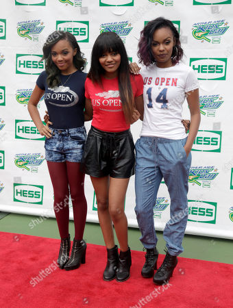 From left, recording artists Lauryn McClain, China McClain and Sierra McClain attend US Open Arthur Ashe Kids Day at the USTA Billie Jean King National Tennis Center on in New York