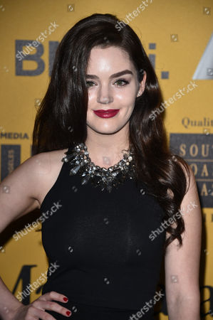 Dana Melanie arrives at the Women In Film 2014 Crystal And Lucy Awards at the Hyatt Regency Century Plaza, in Los Angeles