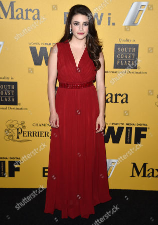Daniela Bobadilla arrives at the Women In Film 2014 Crystal And Lucy Awards at the Hyatt Regency Century Plaza, in Los Angeles