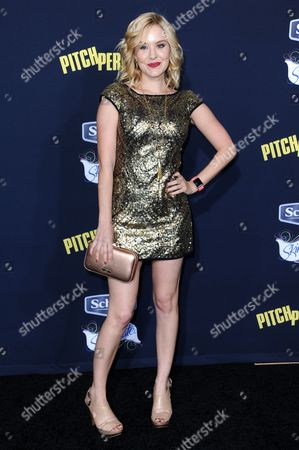 "Brea Grant arrives at the World Premiere of ""Pitch Perfect 2"" held at the Nokia Theatre L.A. Live, in Los Angeles"