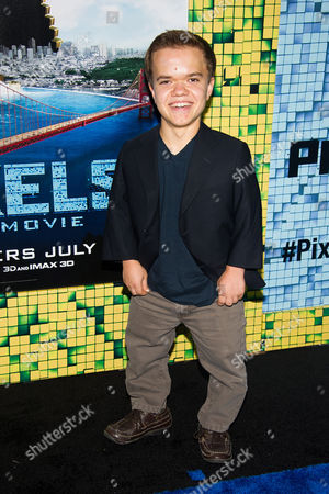 """Stock Image of Andrew Bambridge attends the world premiere of """"Pixels"""" at Regal E-Walk, in New York"""