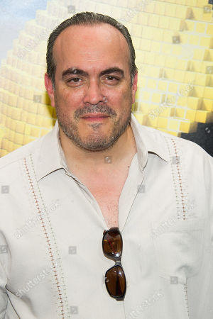 "David Zayas attends the world premiere of ""Pixels"" at Regal E-Walk, in New York"