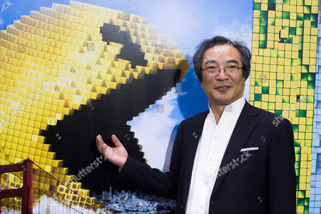 "Professor Toru Iwatani attends the world premiere of ""Pixels"" at Regal E-Walk, in New York"