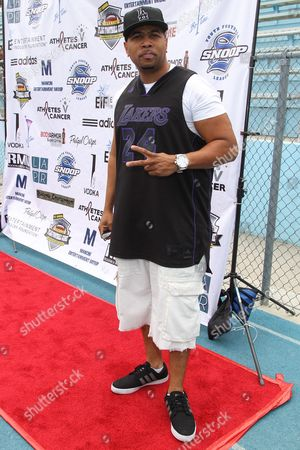 Editorial photo of 1st Annual Athletes vs. Cancer Celebrity Flag Football Game, Pacific Palisades, USA