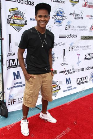 Actor Octavius J. Johnson attends the 1st Annual Athletes vs. Cancer Celebrity Flag Football game at the Palisades High School on in Pacific Palisades, Calif