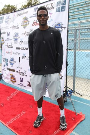 Professional basketball player Kareem Rush attends the 1st Annual Athletes vs. Cancer Celebrity Flag Football game at the Palisades High School on in Pacific Palisades, Calif