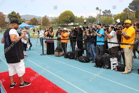 Editorial picture of 1st Annual Athletes vs. Cancer Celebrity Flag Football Game, Pacific Palisades, USA