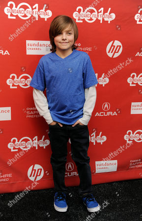 """Stock Photo of Deke Garner, a cast member in """"Hellion,"""" poses at the premiere of the film at the 2014 Sundance Film Festival, in Park City, Utah"""