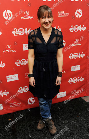 "Kat Candler, writer/director of ""Hellion,"" arrives at the premiere of the film at the 2014 Sundance Film Festival, in Park City, Utah"