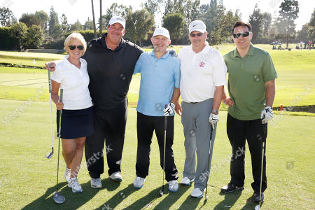 Diane Venezia, from left, Brian Baumgartner, Steve Venezia, David Gray, and Tim Andrews are seen at the 16th Emmys Golf Classic presented by the Television Academy Foundation at the Wilshire Country Club on in Los Angeles