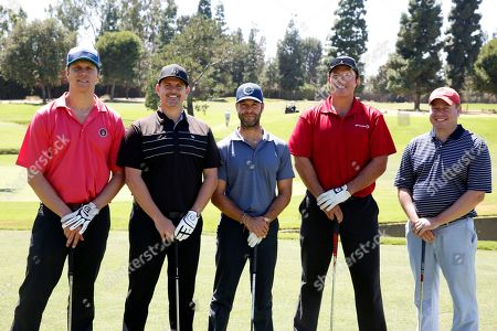 Brett Weitz, from left, Rob Wolken, Hayes Macarthur, Adam Baldwin, and Nate Hicks are seen at the 16th Emmys Golf Classic presented by the Television Academy Foundation at the Wilshire Country Club on in Los Angeles