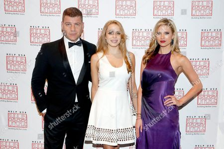 Stock Photo of Fox news correspondent Tom Murro, actress Julianne Michelle and Miss New York US Nicole Kulovany attend the 2015 Help USA Hero Awards Dinner at Cipriani 42nd Street on Thurs., in New York City