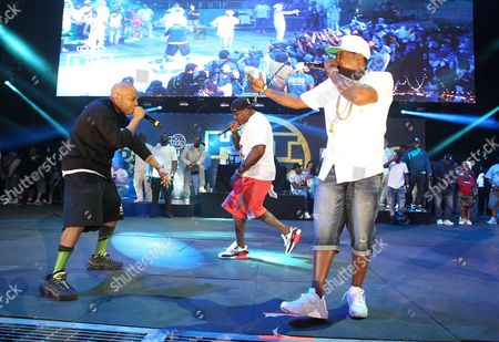 Styles P left, Sheek Louch and Jadakiss are seen performing at Hot 97 Summer Jam at MetLife Stadium, in East Rutherford, New Jersey