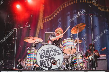 Patrick Carney (left) of The Black Keys Performs at the 2015 Pemberton Music Festival on July 17th, 2015 in British Columbia, Canada