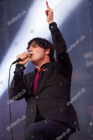 Gerard Way performs with his band at the Voodoo Music Experience, in New Orleans