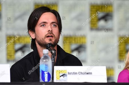 """Justin Chatwin attends the """"American Gothic"""" panel on day 1 of Comic-Con International, in San Diego"""