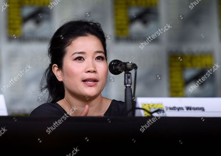 "Stock Image of Jadyn Wong attends the ""Scorpion"" panel on day 1 of Comic-Con International, in San Diego"