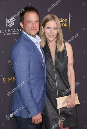Scott Martin, left, and Lauralee Bell attend the 2016 Daytime Peer Group Celebration presented by the Television Academy at their Saban Media Center, in North Hollywood, Calif