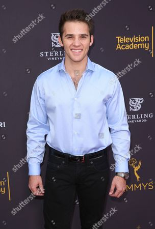 Casey Moss arrives at the 2016 Daytime Peer Group Celebration presented by the Television Academy at their Saban Media Center, in North Hollywood, Calif