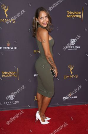 Christel Khalil arrives at the 2016 Daytime Peer Group Celebration presented by the Television Academy at their Saban Media Center, in North Hollywood, Calif