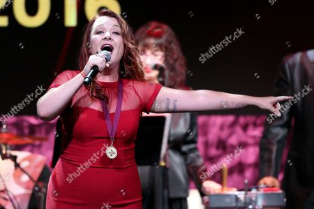 """Stock Photo of Audra Mae performs """"Heartbeat Song"""" at the 33rd annual ASCAP Pop Music Awards at the Dolby Ballroom, in Los Angeles"""