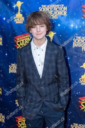 Max Charles arrives at The 42nd Annual Saturn Awards at the Castaway on Wednesday, June 22, in Burbank, Calif
