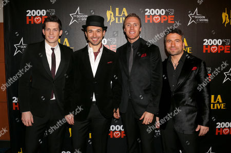 The Canadian Tenors attend the 5th annual Holiday Tree Lighting at L.A. Live and opening of LA Kings Holiday Ice, in Los Angeles