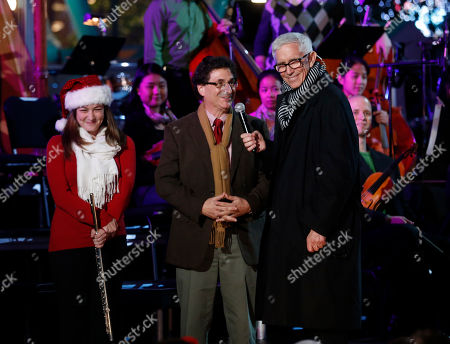 Fritz Coleman onstage at the 5th annual Holiday Tree Lighting at L.A. Live and opening of LA Kings Holiday Ice, in Los Angeles