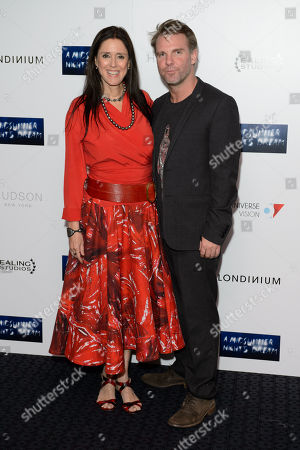 Stock Photo of Juile Taymor and Ben Latham-Jones pose for photographers at the UK Premiere of A Midsummer Nights Dream at a central London cinema