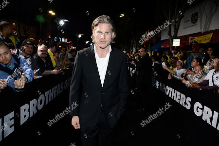 Noah Huntley seen at Columbia Pictures premiere of 'The Brothers Grimsby' at Regency Village Theatre, in Los Angeles, CA