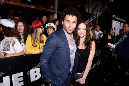 Corbin Bleu and Sasha Clements seen at Columbia Pictures premiere of 'The Brothers Grimsby' at Regency Village Theatre, in Los Angeles, CA