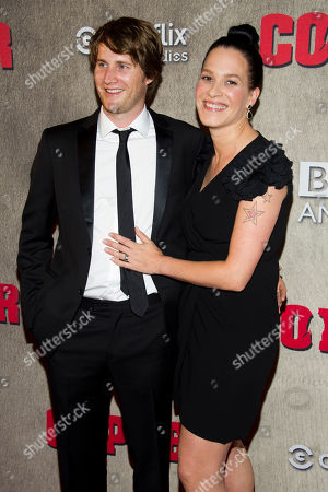"""Derek Richardson and Franka Potente attend the premiere of BBC America's """"Copper"""" on in New York"""