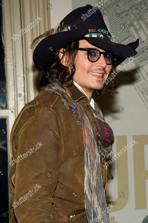 """Johnny Depp appears at a promotion book event for Damien Echols's biography """"Life After Death"""" at Barnes & Noble bookstore on in New York"""