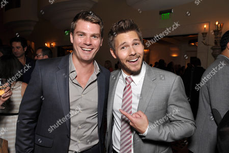 Jeff Branson, left, and Scott Clifton attend the Daytime Emmy Nominee Cocktail Reception in Beverly Hills, Calif., on