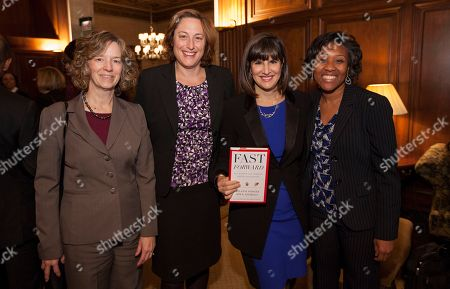From left, Alliance for Women Co-Chairs Cheryl Dancey Balough and Erin Kelly with Fast Forward co-author Kim Azzarelli and the Black Women Lawyers' Association's Lashonda Hunt, during the Fast Forward Book Event hosted by the Chicago Bar Association, on in Chicago