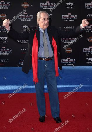 """Powers Boothe arrives at the Los Angeles premiere of """"Captain America: Civil War"""" at the Dolby Theatre on"""