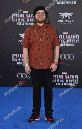 """Elden Henson arrives at the Los Angeles premiere of """"Captain America: Civil War"""" at the Dolby Theatre on"""
