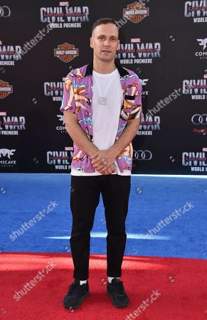 """Nick Blood arrives at the Los Angeles premiere of """"Captain America: Civil War"""" at the Dolby Theatre on"""
