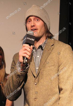 Level 1's Josh Berman speaks onstage at Powder Magazine Awards at Park City Live Day 1, in Park City, Utah