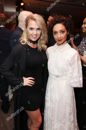Victoriah Bech and Ruth Negga seen at the Los Angeles Premiere of Focus Features' LOVING after party at the Samuel Goldwyn Theater, in Beverly Hills, Calif