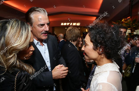 Tara Wilson, Chris Noth and Ruth Negga seen at the Los Angeles Premiere of Focus Features' LOVING after party at the Samuel Goldwyn Theater, in Beverly Hills, Calif