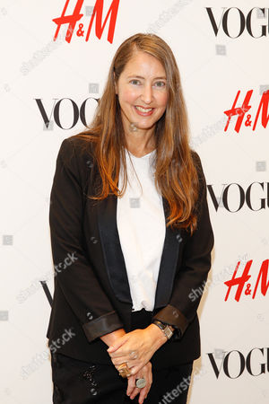 H&M's Head of Design Ann-Sofie Johansson seen at the VOGUE and H&M fashion week kickoff at H&M on 5th ave on in New York