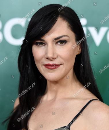 """Kyra Zagorsky, a cast member in the Syfy series """"Helix,"""" poses at the NBCUniversal Cable 2015 Winter TCA Press Tour at The Langham Huntington Hotel, in Pasadena, Calif"""