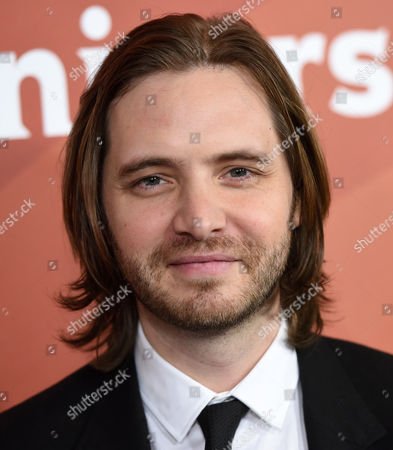 """Aaron Stanford, a cast member in the Syfy series """"12 Monkeys,"""" poses at the NBCUniversal Cable 2015 Winter TCA Press Tour at The Langham Huntington Hotel, in Pasadena, Calif"""