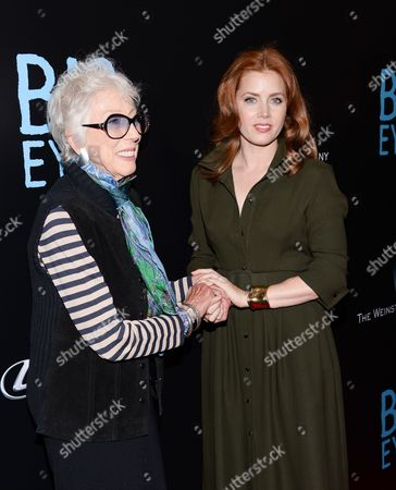 """Artist Margaret Keane, left, and actress Amy Adams attend the """"Big Eyes"""" premiere at the Museum of Modern Art, in New York"""