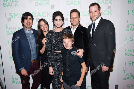 "Daniel Hammond, from left, Amy Koppelman, Sarah Silverman, Skylar Gaertner, Josh Charles and Adam Salky attend a special screening of ""I Smile Back"" at The Museum of Modern Art, in New York"