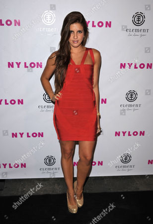 Stock Photo of Electra Avellan attends the Nylon August issue party at Blok, in Los Angeles