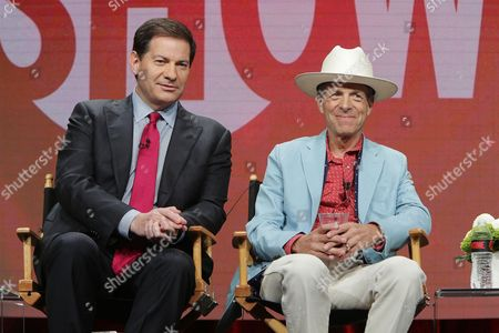 Mark Halperin and Mark McKinnon, Executive Producers and hosts of 'The Circus', speak at Showtime 2016 Summer TCA Press Tour at The Beverly Hilton Hotel, in Los Angeles